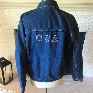 Jean jacket size 16 USA skating